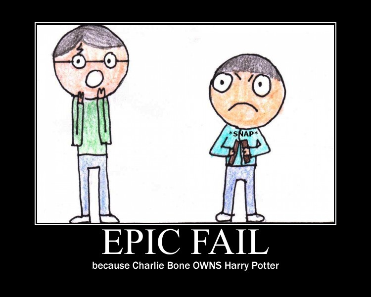 Charlie Bone pwns Harry Potter