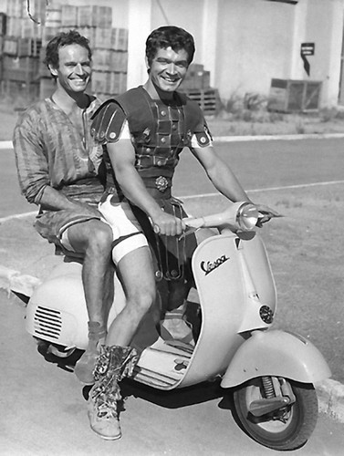 Charlton Heston and Stephen Boyd