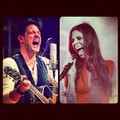 Chriastina and Steve singing - christina-perri photo