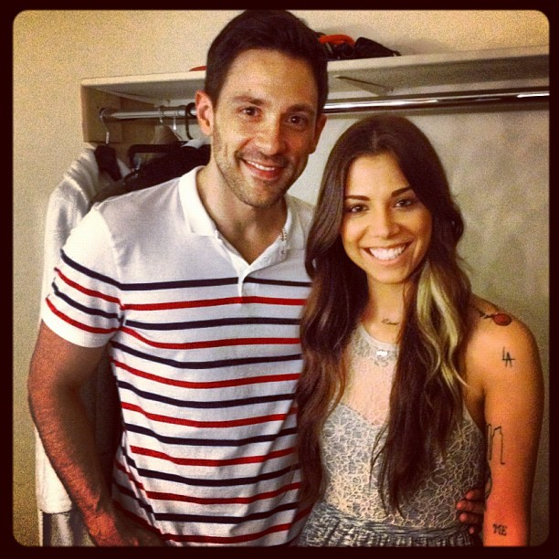 Christina Perri with cool, Boyfriend Steve Kazee