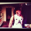 Christina and Steve skyping