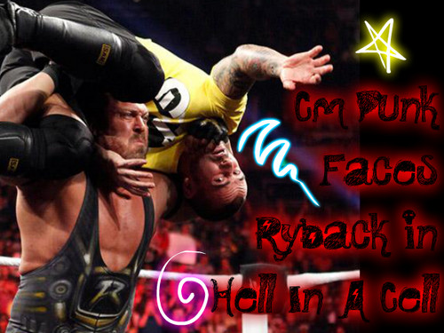 Cm punk vs Ryback at Hell In A Cell