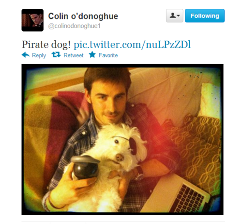 Colin O'Donoghue @ twitter