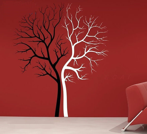 home decorating images couple tree wall sticker wallpaper and