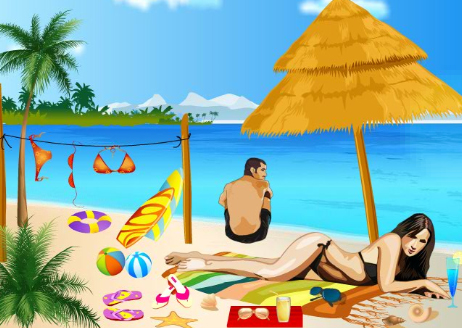 Free online Makeup Game images Couples At Miami Beach wallpaper and background photos