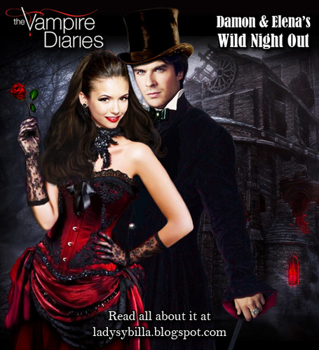 Damon & Elena's wild night out