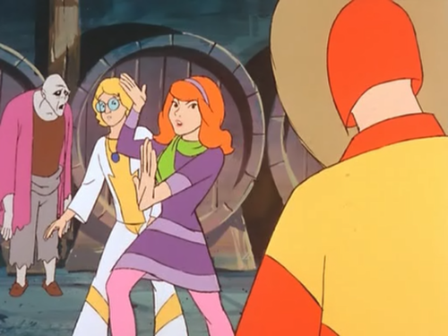 Scooby-Doo achtergrond containing anime entitled Daphne's Fake-Out