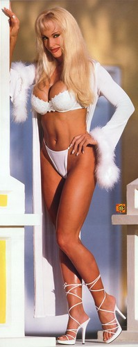 Former WWE Diva... Debra achtergrond probably with a swimsuit, a bikini, and an underwear called Debra in Hedonism (rare)