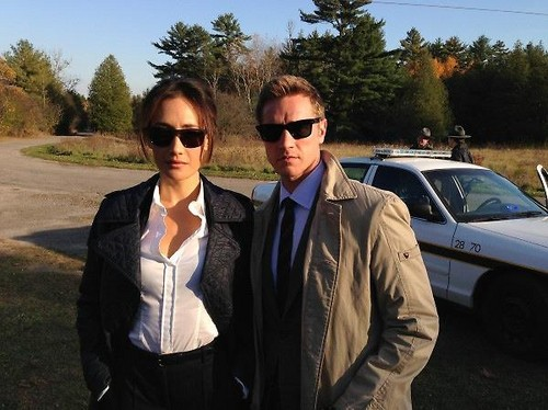 Devon Sawa and Maggie Q