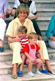 Diana And Her Sons, William and Harry