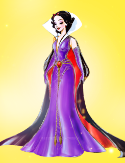 Дисней Princesses with Designer Villain gowns