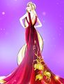 Disney Princesses with Designer Villain gowns
