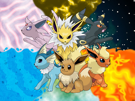 pokemon wallpaper containing anime entitled Eevee's