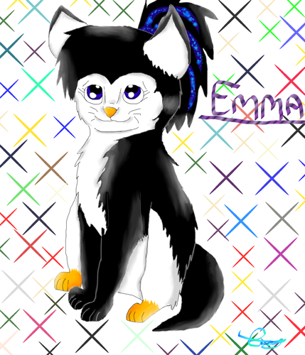 Emma as a cat. :3