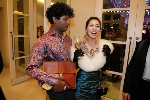 Emmanuel Ray, Nominee 런던 Personality of the 년 2012 with circus performer Yusura 부시, 부시 대통령은