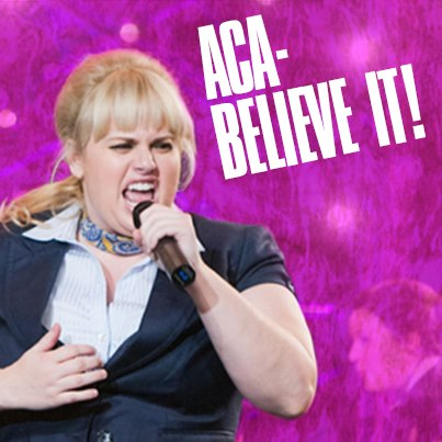 Pitch Perfect achtergrond possibly with a concert called Fat Amy