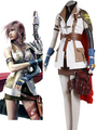 Final 幻想 XIII Lightning Cosplay Costume