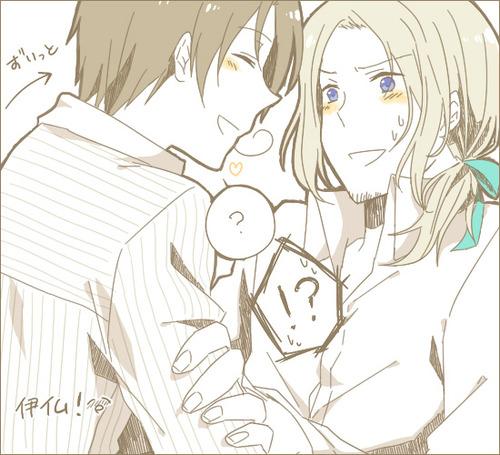 Hetalia Couples! karatasi la kupamba ukuta containing anime titled FraIta
