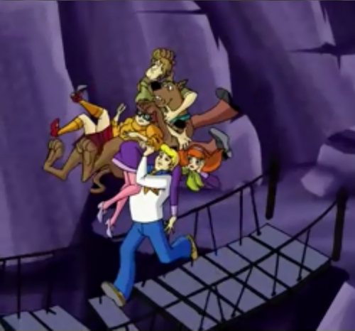 Scooby-Doo achtergrond entitled Fred Carries Everybody