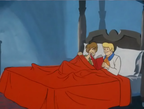Scooby-Doo wallpaper entitled Fred and Shaggy in Bed