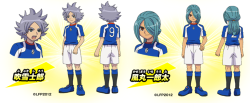Fubuki and Kazemaru on Inazuma Legend Japan