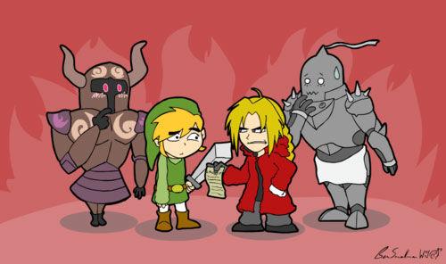 Die Legende von Zelda Hintergrund possibly with Anime called Funny Legend of Zelda