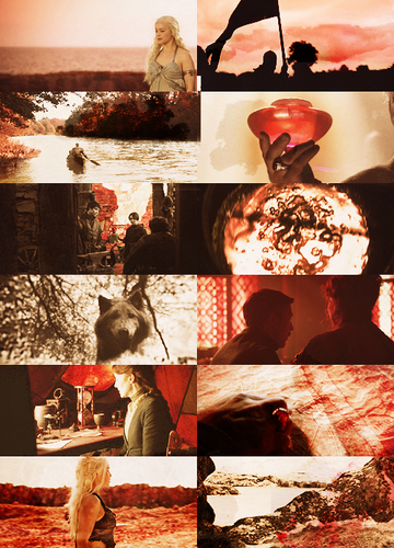 Game of Thrones in red