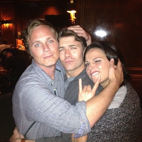 "Get Ready For ""The Doctor"", David Anders (Whale), Noah фасоль, бин (Daniel) and Lana Parrilla (Regina)"