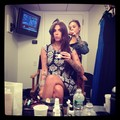 Getting makeup done - christina-perri photo