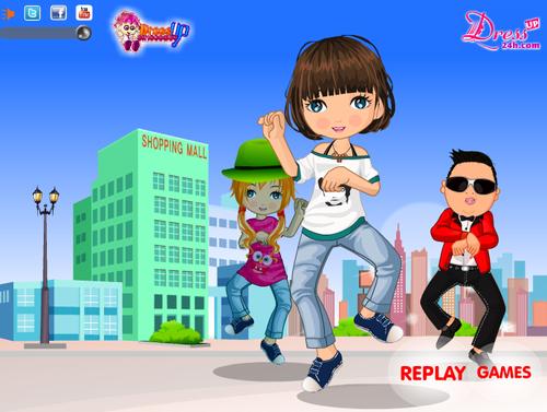 Girl Gangnam Style - Dressup24h.com