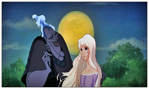 disney crossover wallpaper probably containing anime called Hades Persephone