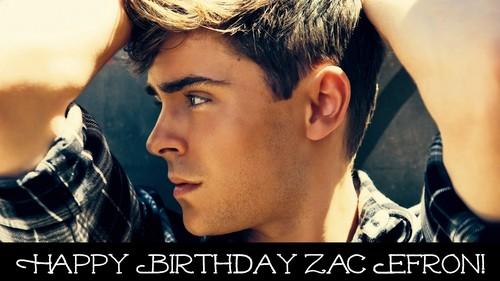 Zac Efron wallpaper containing a portrait called Happy Birthday Zac Efron!