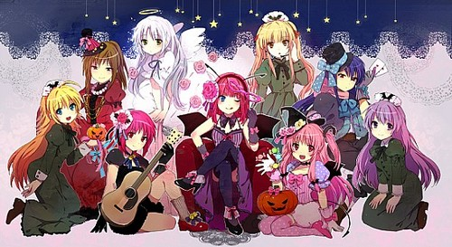 Happy Dia das bruxas from the girls of angel Beats