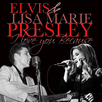 Elvis Aaron Presley and Lisa Marie Presley wallpaper possibly with a concert called I love you because...♥