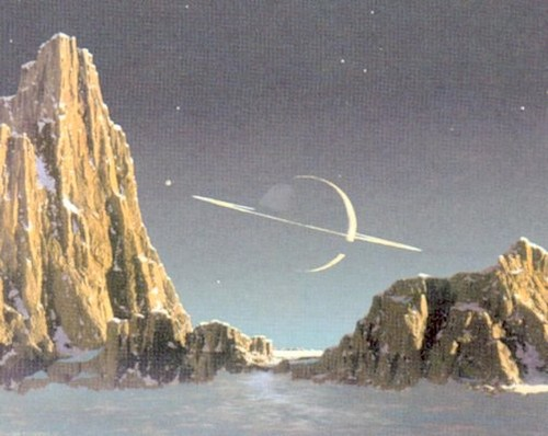 ILLUSTRATION OF A VIEW FROM TITAN