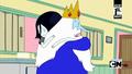Ice King and Marceline hug