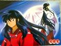 inuyasha - InuYasha and Kikyo wallpaper