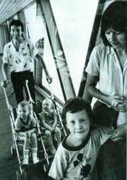 John Deacon and family