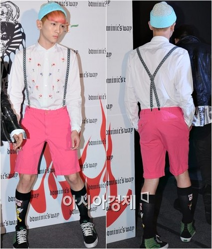 Jonghyun & key at seoul fashion week