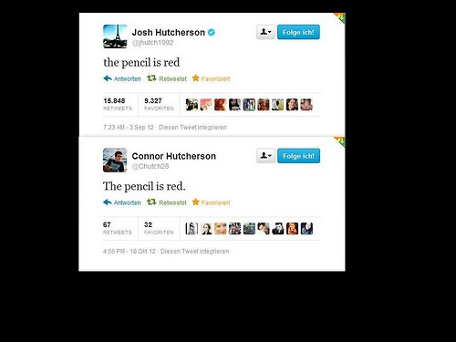 Josh and Connor/The pencil is red