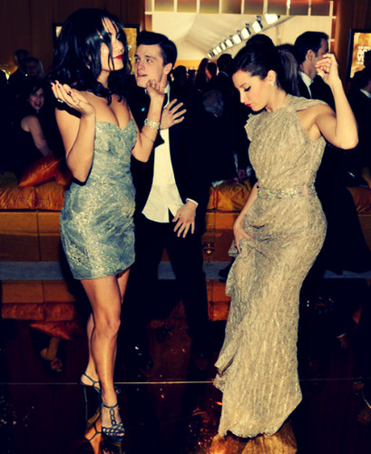 Josh dancing with Vanessa Hudgens and Ashley Tisdale