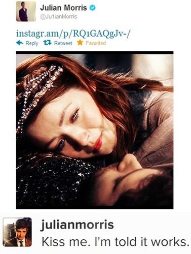 "Julian Morris (Prince Phillip) Tweet ""kiss me, Aurora!"""