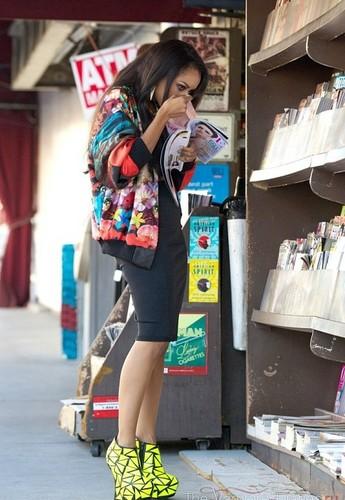 Kat checks out the magazines