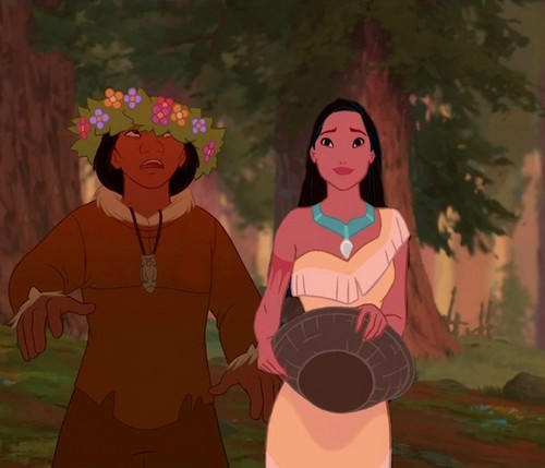 disney crossover wallpaper titled Kenia and Pocahontas