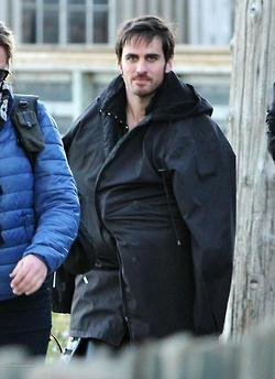 "Killian ""Hook"" Jones on Set 26 October 2012"