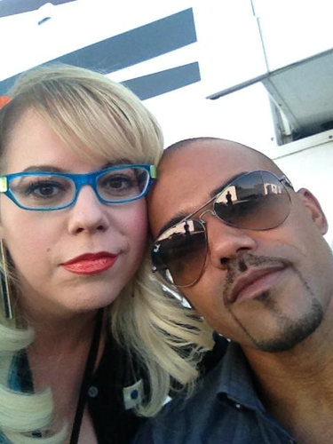 Shemar Moore 壁紙 with sunglasses called Kirsten & Shemar