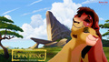Kovu and Kiara cinta at Pride Rock wallpaper HD