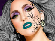 Free Online Makeup Game Images Lady Gaga Halloween Party Makeup Photo (32595809)