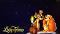 Lady and The Tramp Romantic Night Stars wallpaper HD - lady-and-tramp wallpaper