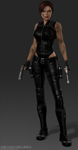 Tomb Raider দেওয়ালপত্র with a hip boot entitled Lara/Doppleganger!